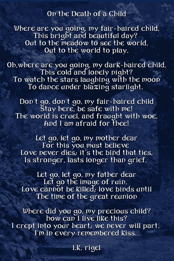 Death of a child poems quotes lol rofl com